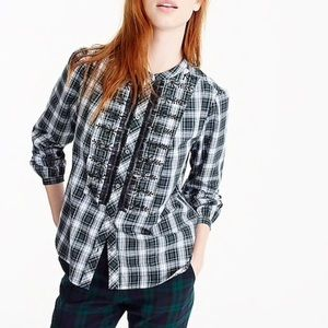 J. Crew Embellished Button-Up Shirt